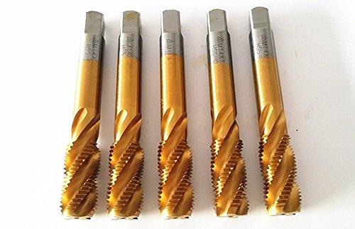 CNGX New 5 pcs MetricH2 HSSM14 Taps M14×15mm Grinding Spiral Tap