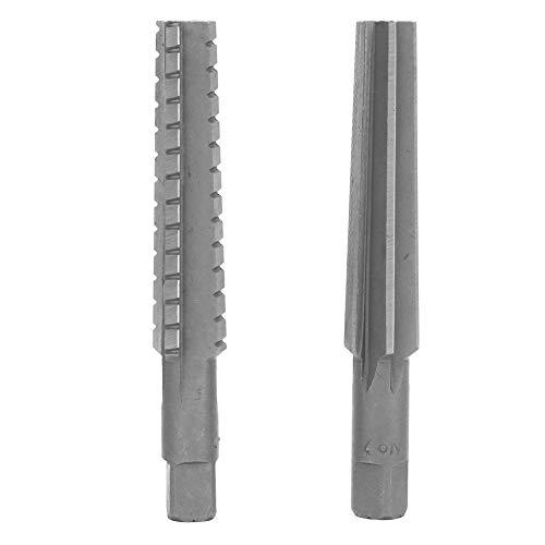 Cutting Reamer - HSS MT2 Taper FineRough Reamer Cutter Tool Set Straight Shank 15x125cm 2-Pack