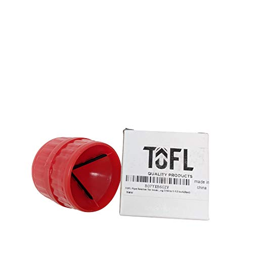 TOFL Deburring Tool For Metal A Great Copper Pipe Cleaner Reamer And Deburring Tool An Inner And Outer Reamer For Soft Metals And PVC Rigid Plastic Tubing 316 to 1-12-inch 6 Mm To 40 Mm Red