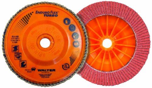 Walter Enduro-Flex Turbo Abrasive Flap Disc Type 29 58-11 Thread Size Plastic Backing Ceramic 4-12 Diameter Grit 3660 Pack of 10