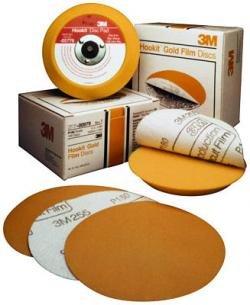 3M 983 Gold Hookit 6 in 80 Hookit Gold Disc 6 in P80C 75 Discs per Box