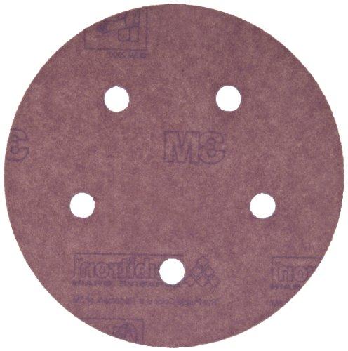 3M Hookit Paper DF Disc 735U Hook and Loop Attachment Ceramic Aluminum Oxide 5 Diameter P180 Grit Pack of 50