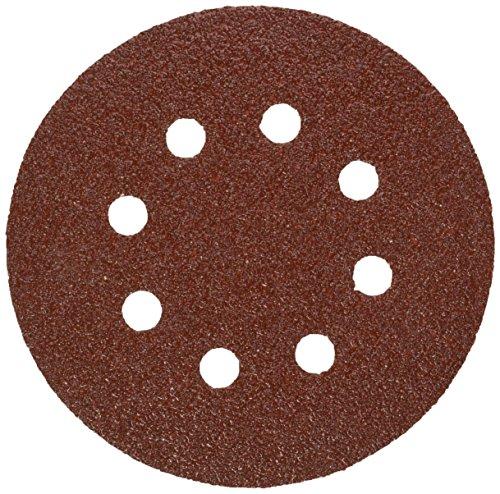 Bosch SR5R045 5 Hook Loop Sanding Disc 8-Hole Red 40 Grit 50 Pack