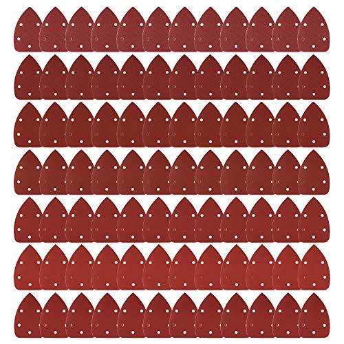 Coceca 84pcs Mouse Detail Sander Sandpaper Sanding Paper Assorted 40 60 80 120 180 240 320 Grits