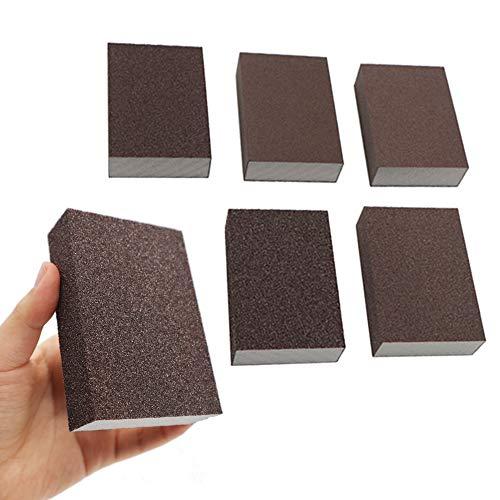 6Pcs Wet Dry Sanding Sponges 60 80 100 120 180 220 Grit Sanding Pad Assortment Washable and Reusable by BAISDY