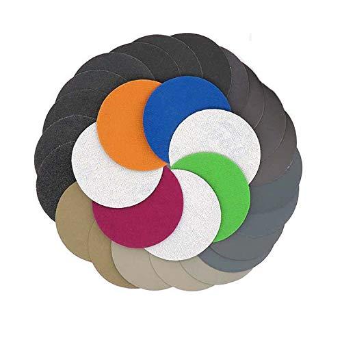 Assorted Set 30pcs 125mm5 Inch Grit 80100120180240320 Water Dry Sanding Discs Hook Loop Sandpaper Round Sandpaper Disk Sand Sheet