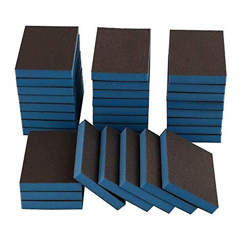 Hommp 32 Packs Sanding Sponge Wet and Dry Sanding Blocks