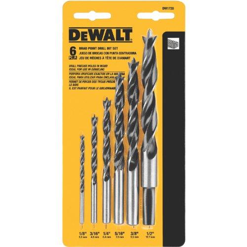 DEWALT Drill Bit Set Brad Point 6-Piece DW1720