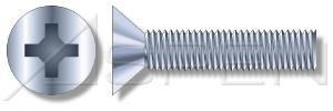 200pcs 14-20X6 Machine Screws Flat Phillips Drive Steel Zinc Plated Standard Countersink