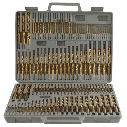 115pc Titanium Drill Bit Set w Index Case Number Letter Fractional