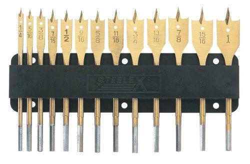 Steelex Plus D2053 TiN Coated Spade Bit Set13-Piece