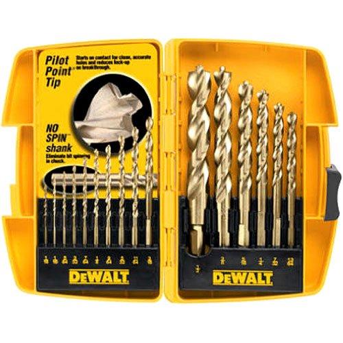 DEWALT Drill Bit Set with Pilot Point 16-Piece DW1956