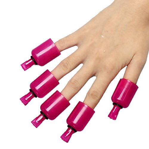 AutumnFallArt Soak Off Clip Cap Plastic Nail UV Gel Polish Remover Wrap