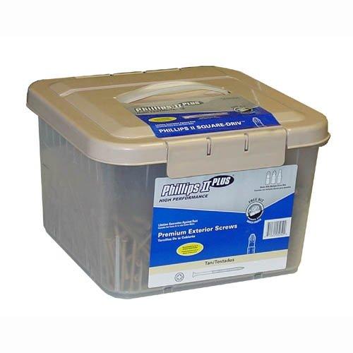 5-55200 25 lb 9x2 Deck Screws TAN