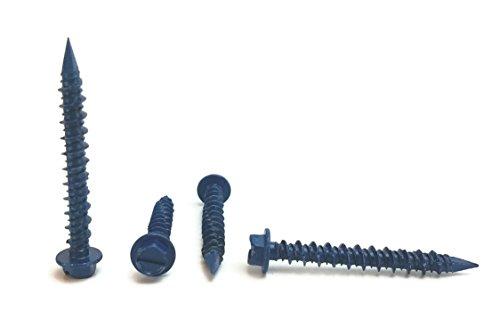 Chenango Supply 316 x 1-34 Hex Head Concrete Screw Anchor 100 pieces With Drill Bit 316 x 1-34