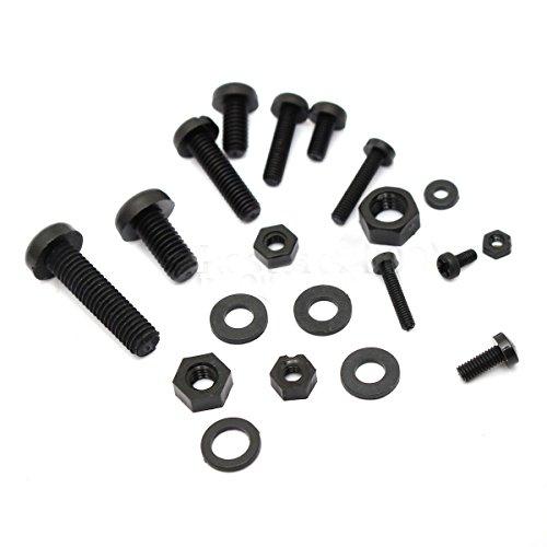 Screws Nuts Assortment Kit - SODIALR 150Pcs M2 M25 M3 M4 M5 Nylon Hex Screw Bolt Nut Standoff Spacer Assortment Kit Black