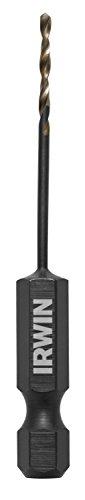 IRWIN Tools 1871045 Impact Performance Series 116-Inch Turbomax Black and Gold Drill Bit Bulk 12-Pack