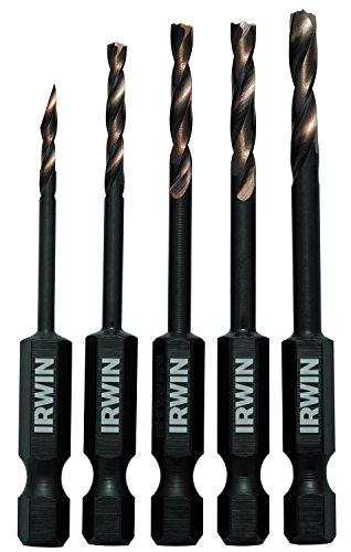 IRWIN Tools 1881279 Impact Performance Series Turbomax Black and Gold Drill Bit 5-Piece