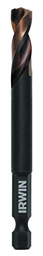 IRWIN Tools 1892848 Impact Performance Series 516-Inch Turbomax Black and Gold Drill Bit Bulk 6-Pack