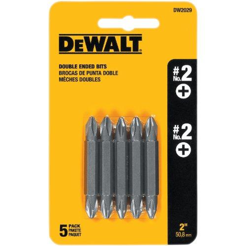 DEWALT DW2029 2 Phillips Double Ended Screwdriver Bit 5-Pack
