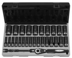 12 Dr 29Pc Metric Deep Duo-Socket Set - 6 Pt