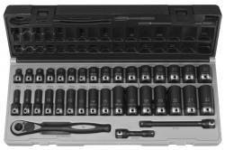 Grey Pneumatic 81635MRD 38 Drive 35pc Standard and Deep Length Metric Duo-Socket Set - 6 by Grey Pneumatic