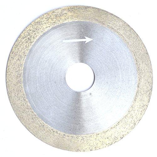 ILOVETOOL 4 inch 100mm x 20mm x 1mm Diamond Continuous Rim Saw Glass Wet Cutting Blade Arbor 34