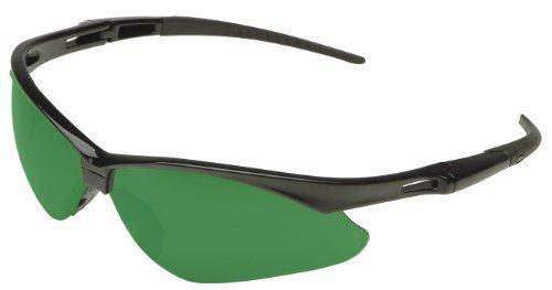 Jackson Safety 3004761 Nemesis Cutting Safety Glasses Black FrameIRUV 50 Shade Green Lens 19860
