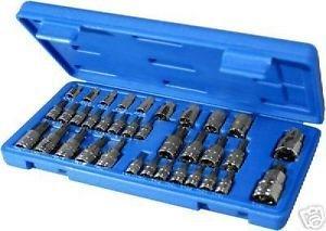 New 35pc Torque Bit and E-Socket Set Tamper Proof Mechanics Tool Star