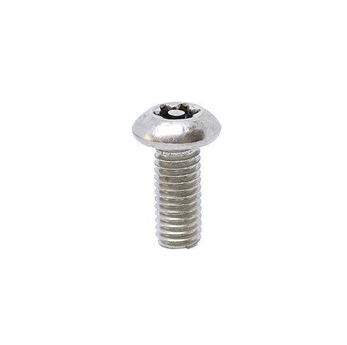 100pcs BelMetric Tamper Proof Screws M5X12 Stainless Steel Button Head Security Screw Torx 25 with Pin SBT5X12SS-X