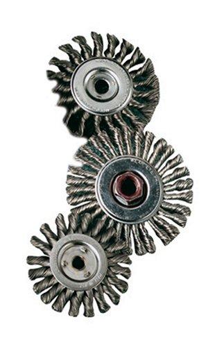 SAIT 06378 4 x 014 x 12 Arbor Carbon Bristle Knot Style Angle Grinder Wire Wheel