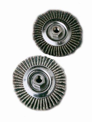 SAIT 06389 6-12 x 020 x 58-11 Arbor Stainless Bristle Pipeline Brush Angle Grinder Wire Wheel