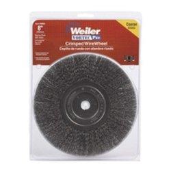 WEI36005 Bench Grinder Wire Wheel 8 Diameter Coarse Crimped Wire Narrow Face 58 Arbor