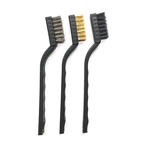 3Pcs Wire Brush SetNylonBrassStainless Steel