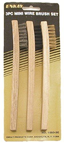 Enkay 1660-3C Mini Wire Brush Set Carded 3-Piece