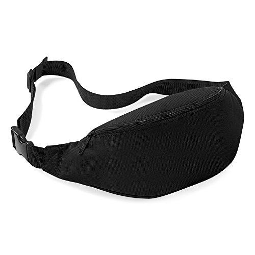 Jackie Unisex Men Women Fashion Sporty Multi-purpose 2-Zipper Waist Belt Bag Fanny Pack Adjustable Strap for Sport Hiking Traveling Passport Wallet