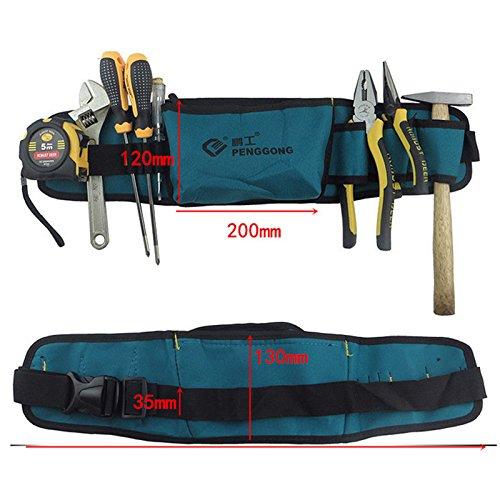 Tool Bag Waterproof Oxford Cloth Tools Pockets Waist Belt Herramientas