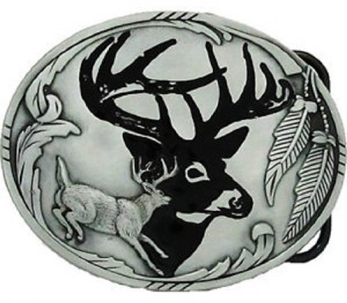 Deer Buckle Belt Buckle Hunting Buck Antlers