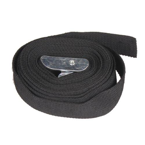 Awakingdemi Nylon Cargo Tie down Luggage Lash Belt Strap with Metal Cam Buckle Black