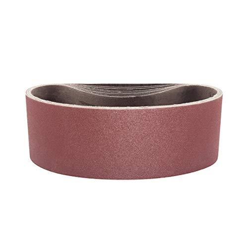 POWERTEC 110450 3 x 21 Sanding Belts  120 Grit Aluminum Oxide Sanding Belt  Premium Sandpaper For Portable Belt Sander - 10 Pack