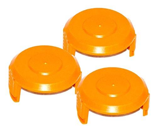 Worx 3 Pack WA6531 Trimmer Edger 50006531 Spool Cap Cover  WA6531-3pk --PEWT43 65234R3FA270165