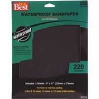 Do it Best Waterproof Silicon Carbide Sandpaper 5PK VFINE WET SANDPAPER