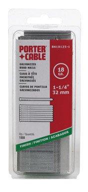 PORTER-CABLE BN18125-1 1-14-Inch 18 Gauge Brad Nail 1000 per Box