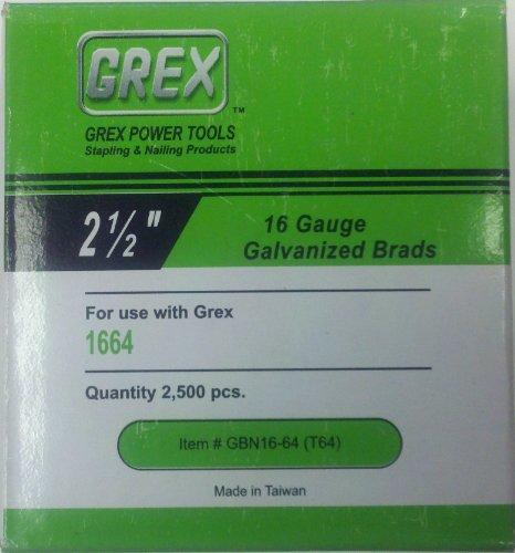 Grex 16 Gauge x 2-12 Brad Nails 2500Box