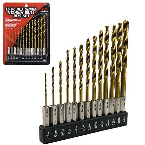 Hex Shank Drill Bit Set 13pc Wholder HSS Titanium Coated Quick Change Load New Model  Tools Hardware store