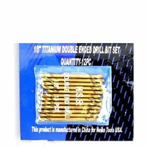 12 Pc Dozen of 18 Inch Bulk Titanium Double End Ended Stubby Stub Drill Bits