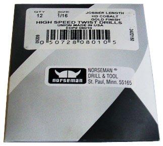 12 Pk - 1364 High Speed Norseman Drill Bits