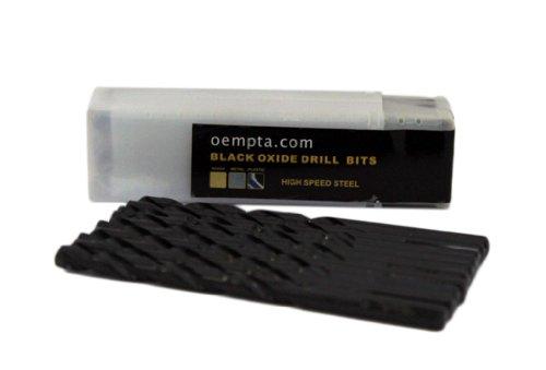1364-Inch Drill Bit Black Oxide Jobber Length Split Point Tip Tricut Shank 10 Pack