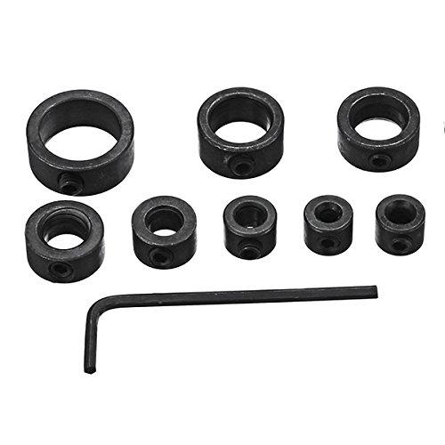 Stop CollarsYingte 8pcs 3-16mm Drill Bit Shaft Depth Stop Collars Woodworking Drill Bit Limited Ring Collar