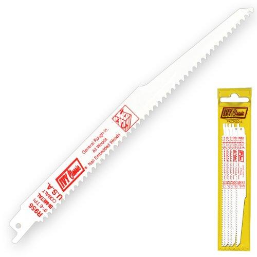IVY Classic 28328 R956P 9-Inch 6 TPI WoodNail Cutting Reciprocating Saw Blade Bi-Metal 5-Pack